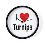I Love Turnips Wall Clock