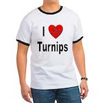 I Love Turnips (Front) Ringer T