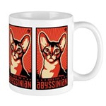 Obey the Abyssinian! Cat coffee Mug