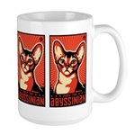 Obey the Abyssinian! Cat Large Mug