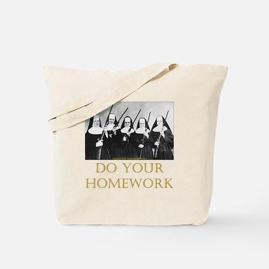 Do Your Homework Tote Bag