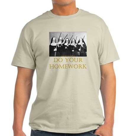 Do Your Homework Light T-Shirt