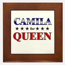 CAMILA for queen Framed Tile