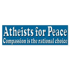 Atheists for Peace bumper sticker