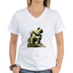 Vinny the Pug Women's V-Neck T-Shirt