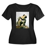Vinny the Pug Women's Plus Size Scoop Neck Dark T