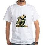 Vinny the Pug White T-Shirt