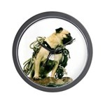 Vinny the Pug Wall Clock