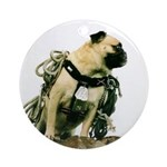 Vinny the Pug Ornament (Round)