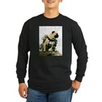 Vinny the Pug Long Sleeve Dark T-Shirt