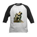 Vinny the Pug Kids Baseball Jersey