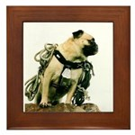 Vinny the Pug Framed Tile