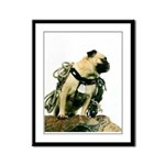 Vinny the Pug Framed Panel Print