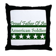 Father of American Soldier Throw Pillow