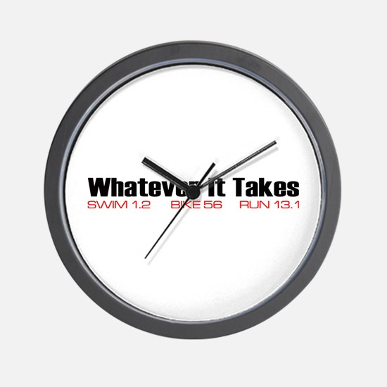 """Whatever It Takes"" Wall Clock"