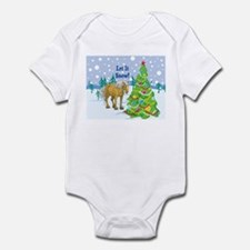 Let It Snow Belgian Horse Holiday Infant Bodysuit