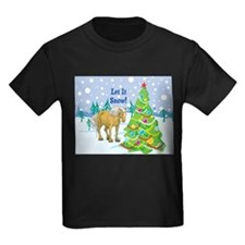 Let It Snow Belgian Horse Holiday T