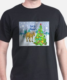 Let It Snow Belgian Horse Holiday T-Shirt