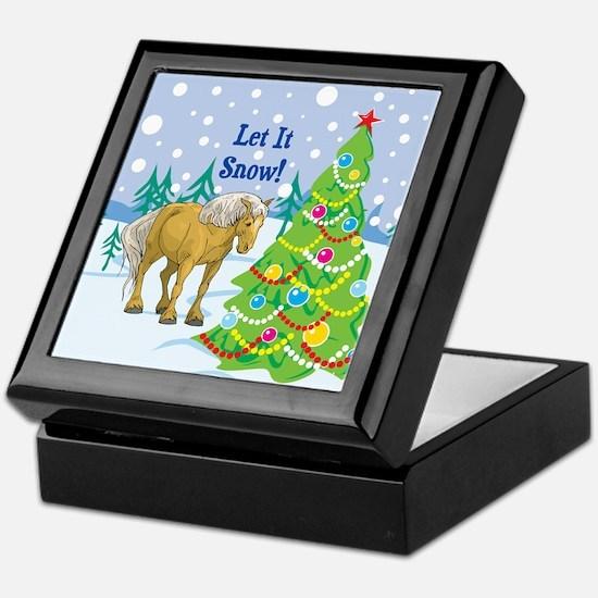 Let It Snow Belgian Horse Holiday Keepsake Box
