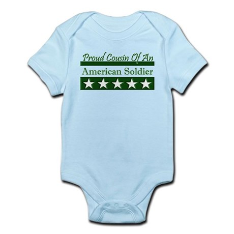 Cousin of American Soldier Infant Bodysuit
