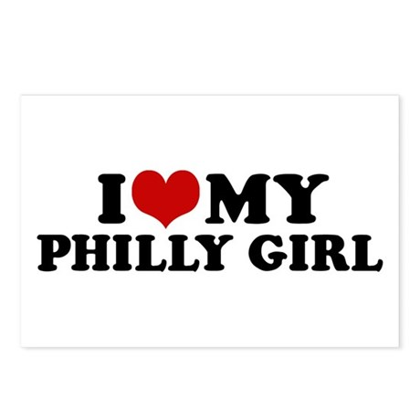 I Love My Philly Girl Postcards (Package of 8)