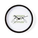Gardener with Attitude Wall Clock
