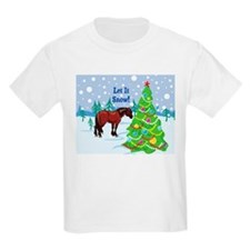 Let It Snow Clydedale Holiday T-Shirt