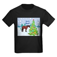 Let It Snow Clydedale Holiday T