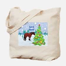 Let It Snow Clydedale Holiday Tote Bag