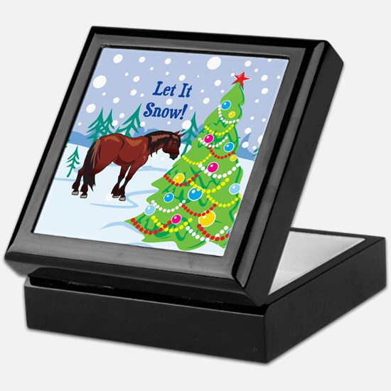 Let It Snow Clydedale Holiday Keepsake Box
