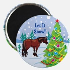 Let It Snow Clydedale Holiday Magnet