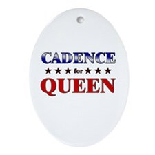 CADENCE for queen Oval Ornament
