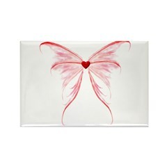 heart wings Rectangle Magnet (100 pack)