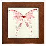 heart wings Framed Tile