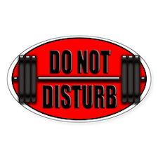 DO NOT DISTURB II Oval Decal