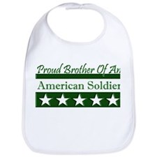 Brother American Soldier Bib