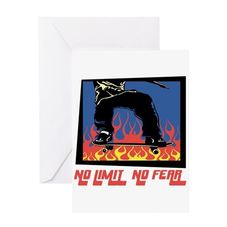 No Limit No Fear Greeting Card