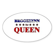BROOKLYNN for queen Oval Decal