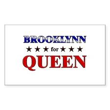 BROOKLYNN for queen Rectangle Decal