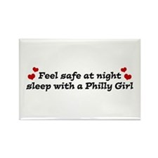 Feel Safe with a Philly Girl Rectangle Magnet