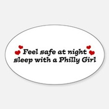 Feel Safe with a Philly Girl Oval Decal
