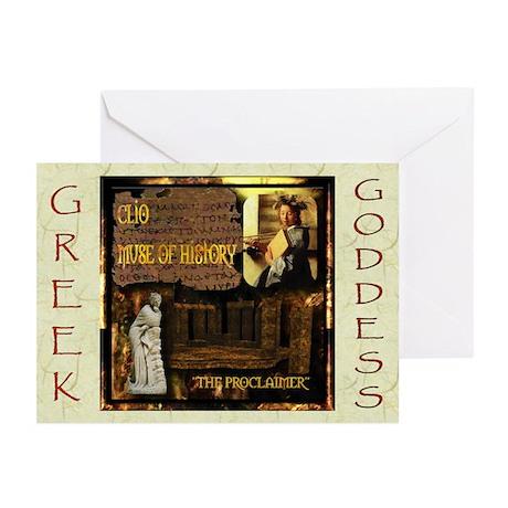 Greek Goddess Clio Greeting Cards (Pk of 10)