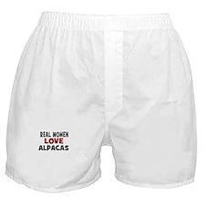 Real Women Love Alpacas Boxer Shorts