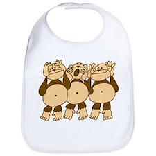See No Evil Monkeys Bib