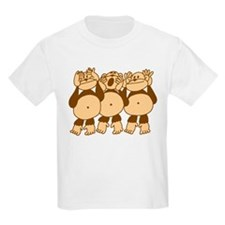 See No Evil Monkeys Kids T-Shirt