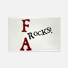FA Rocks! (I) Rectangle Magnet