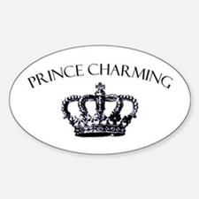 Prince Charming Crown Oval Decal