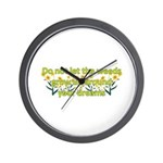 Do not let the weeds grow up Wall Clock