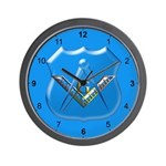 Masonic Shield Modern Wall Clock