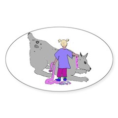 Flyball Junior Handler Oval Decal